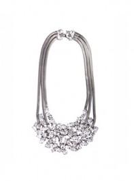 Martine Wester Conqueror Statement Crystal Cluster Bib Necklace