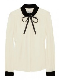 Aubin & Wills Oakdene Velvet And Silk-Crepe Blouse