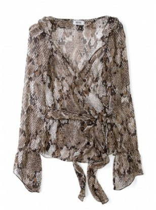 Moschino Cheap & Chic Snake Print Chiffon Blouse