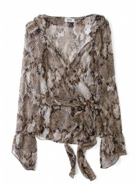 Moschino Cheap &amp; Chic Snake Print Chiffon Blouse