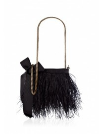 By Malene Birger Black Fickly Ostrich Feather Floating Bag 