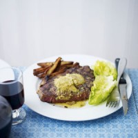 Dry-aged sirloin with rosemary, hazelnut and chilli butter recipe
