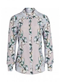 Reiss Kara Bell Sleeve Fitted Blouse