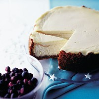 Baked New York Vanilla Cheesecake