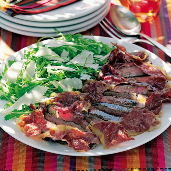 Italian Beef Salad with Crispy Prosciutto and Parmesan Recipe