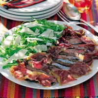 Italian beef salad with crispy prosciutto and Parmesan recipe