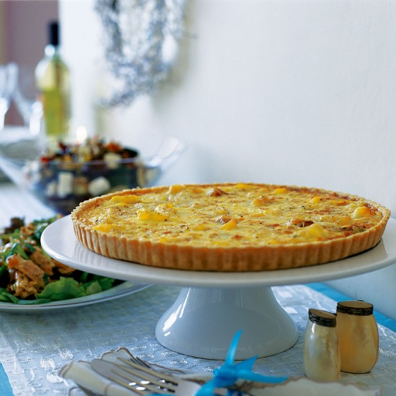 Smoked Haddock, Gruyere and Saffron Tart recipe-Tart recipes-recipe ideas-new recipes-woman and home