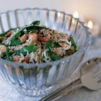 Asian rice and prawn salad recipe