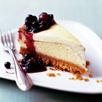 Baked Lemon Cheesecake with Forest Fruits
