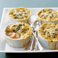 Rich and cheesy posh fish pie recipe