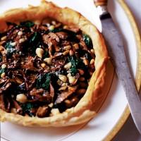 Spinach and Mushroom Filo Tart