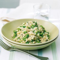 Broad bean, lemon and thyme risotto recipe