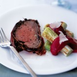 Serrano-wrapped beef fillet with mixed mushrooms recipe