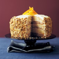 Orange and walnut layer cake recipe