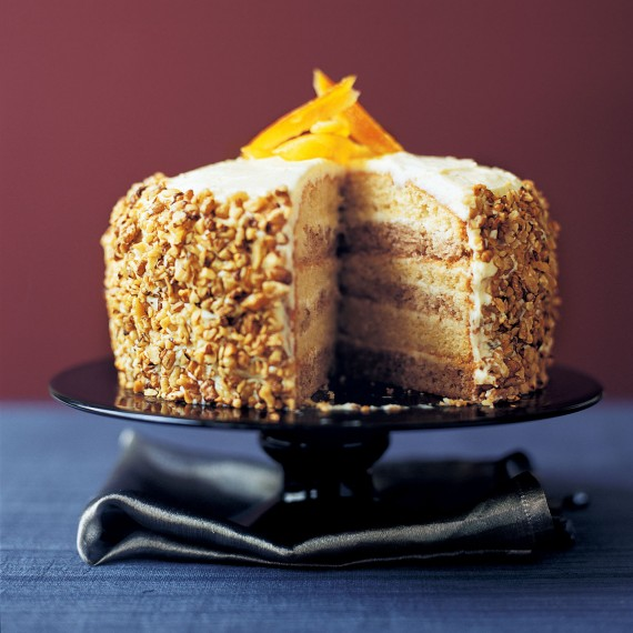 Orange and Walnut Layer Cake - Woman And Home