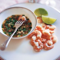 King prawns with Thai dipping sauce recipe
