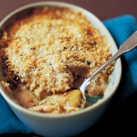 Creamy chicken gratin with crunchy lemon thyme topping recipe