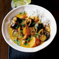 Aubergine and potato curry recipe
