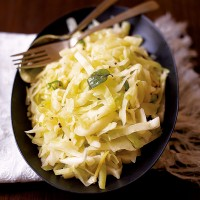 Indian stir-fried white cabbage recipe