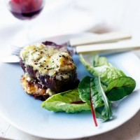Fillet steaks with blue cheese butter and bubble and squeak cakes recipe
