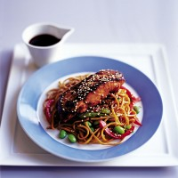 Stir-fry salmon yakitori recipe