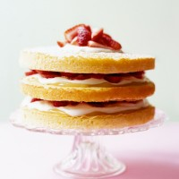 Strawberry and lemon triple layer cake recipe