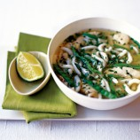 Chicken and Udon Noodle Broth with Lemongrass and Coriander