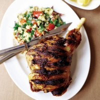 Spice rub leg of lamb with veg couscous recipe