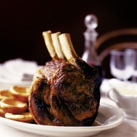 Rib of beef with horseradish Yorkshires and tarragon sauce