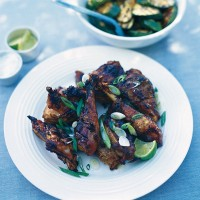 Chargrilled Asian marinated guinea fowl recipe
