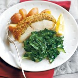 Halibut with a horseradish crust recipe