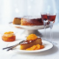 Marzipan cake with caramelised clementines recipe