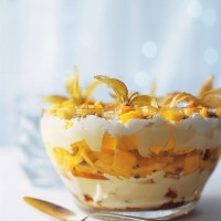Tropical mango and rum trifle recipe