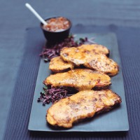 Welsh rarebit with ham recipe