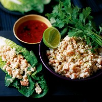 Vietnamese Lemongrass, Chicken and Prawn Wraps