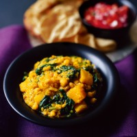North Indian Chickpea, Lentil and Squash Curry