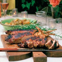 Butterflied leg of lamb with rosemary, garlic and lemon recipe