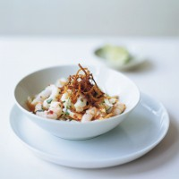 Vietnamese squid and prawn salad with mint recipe