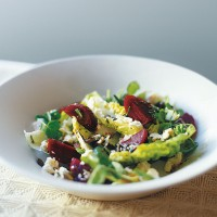 Baby beetroot and Wensleydale salad recipe