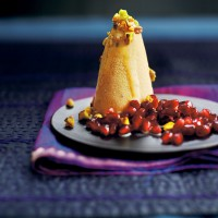 Kulfi with pomegranate recipe