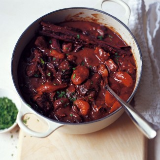 Lamb casserole with apricots and prunes recipe