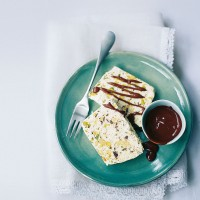 Turron parfait with sherry chocolate sauce recipe