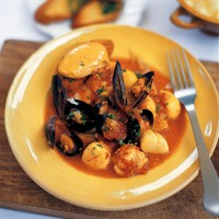 Mediterranean Fish Stew with Rouille Croutons