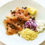 Smoked Salmon with Capers, Onion and Egg
