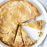 Calvados, apple and custard tart recipe