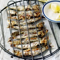 Char-grilled sardines with lemon and sea salt recipe