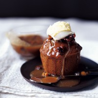 Sticky fig and walnut pudding recipe