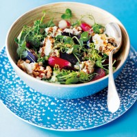 Beetroot and ricotta salad with pomegranate molasses recipe