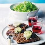 Griddled Steaks with Melted Stilton