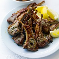 Rosemary, garlic and black pepper marinated lamb cutlets recipe